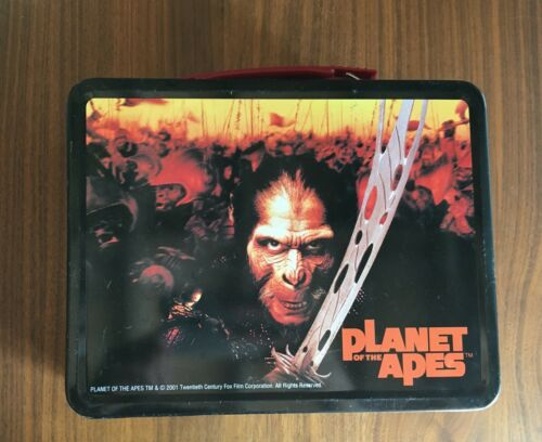Neca 2001 Planet Of The Apes Metal Lunch Box And Thermos