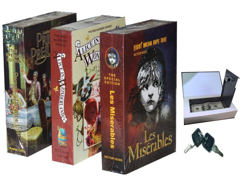 Real Paper Book Locking Booksafe with Key Lock Dictionary Secret Hidden Safe