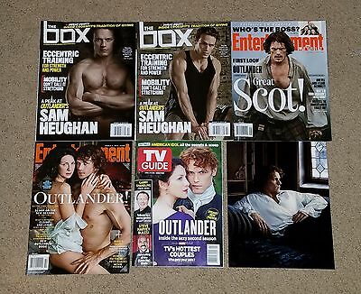 LOT OF 5 OUTLANDER MAGAZINES W/ 8 X 10 PHOTO NO LABELS SAM HEUGHAN BALFE FRASER