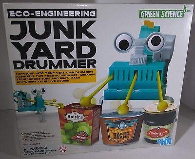 NEW 4M Eco Engineering Kit: Junkyard Drummer Construction Kit Educational Toy