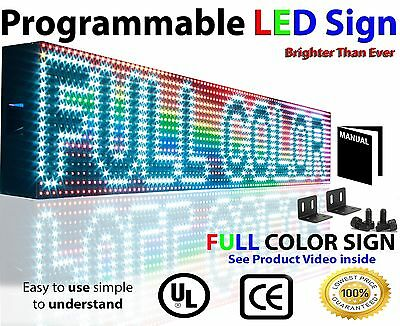 Open Close Led Sign 6x25 Programmable Scrolling Full Color Message Board
