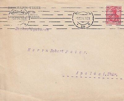 BERLIN, Briefumschlag 1914, Hermann Tietz