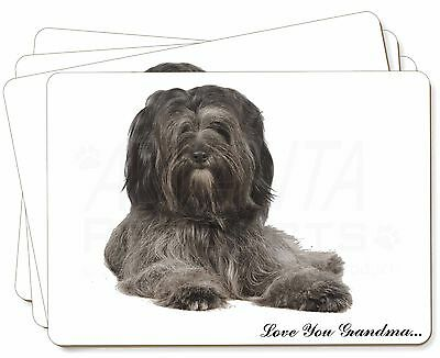 Tibetan Terrier 'Love You Grandma' Picture Placemats in Gift Box, AD-TT2lygP