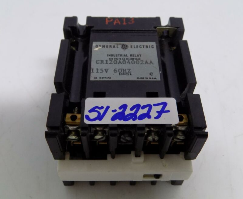 GENERAL ELECTRIC 115V INDUSTRIAL RELAY CR120A04002AA