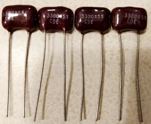 4-PCS  Silver Mica  Capacitors 500V MANY VALUES TO CHOOSE FROM !!