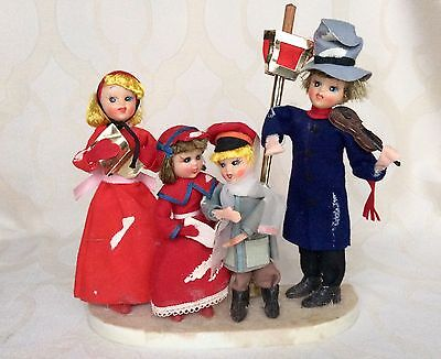 Vintage Set of Victorian Family of 4 Carolers Made in Japan