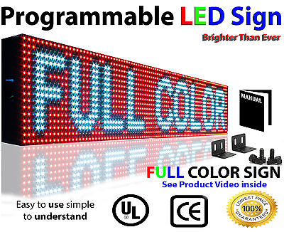 Full Color Led Sign 6x25programmable Text Logo Video Graphic Screen Outdoor