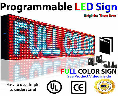Led Video Sign 6x38 Full Color-indoor Programmable Scrolling Message Board