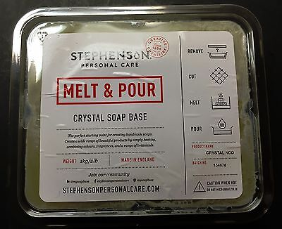 STEPHENSON Crystal ORGANIC OILS Melt and Pour SOAP Base  2-Pound