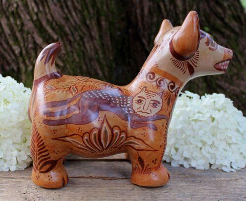 Colima Dog Canelo Cinnamon Pottery by Pajarito Handmade Tonala Mexico Folk Art