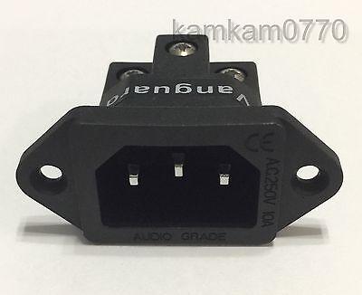 Vanguard Rhodium Plated IEC AC Inlet Non-magnetic Titanium Screw locking FI-06R
