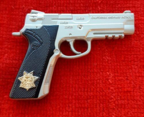 CALIFORNIA HIGHWAY PATROL S&W 4006 PISTOL CHALLENGE COIN CHP  (POLICE LAPD FBI