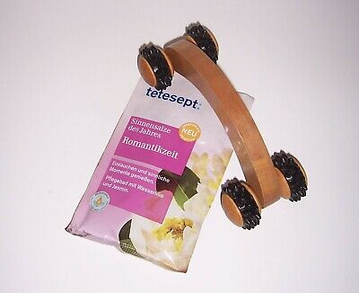 Salz Massage (Handmassageroller+tetesept Badesalz Akupressu Selbstmassage Rücken Beine Faszien)