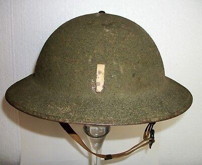 Original WWII M1917 a1 Kelly Helmet w LT Bar Complete