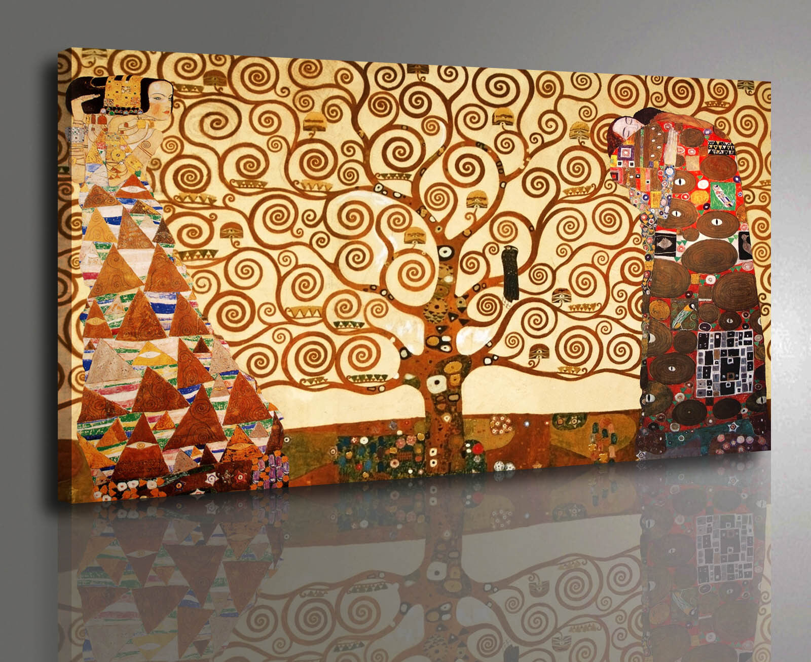 Quadro Klimt Gustav L'Albero della Vita Stampa su tela Canvas effetto Dipinto