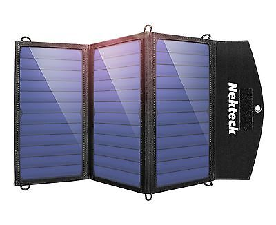 Nekteck 20W Solar Charger with 2-Port USB Charger Build with High efficiency ...