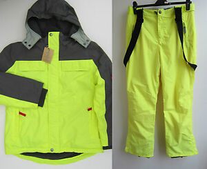 Johnnie b boden grey yellow ski snow jacket coat for Johnny boden sale