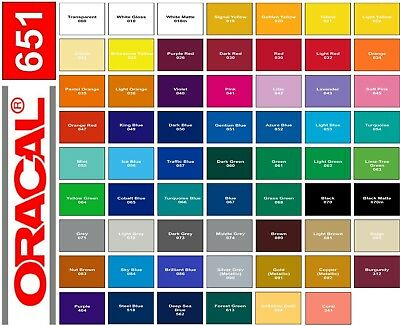 2 Rolls - 12 X 3 Ft Each - Oracal 651 Adhesive Vinyl - Choose Colors - Decal