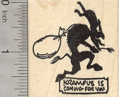 Christmas Krampus Rubber Stamp, Silhouette, is coming for you G29308 - Christmas Silhouette