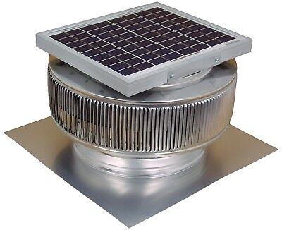 Aura Solar Fan 10 Watts 740 Cfm Roof Attic Vent 12 In Exhaust Active Ventilation