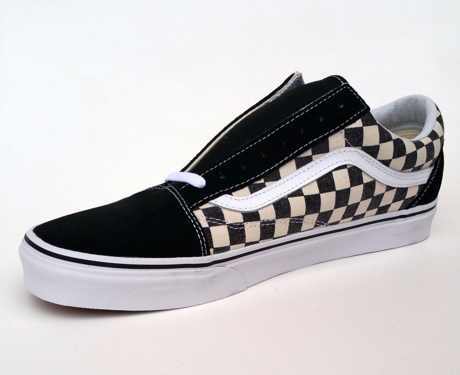 vans old skool checkerboard black espresso ebay