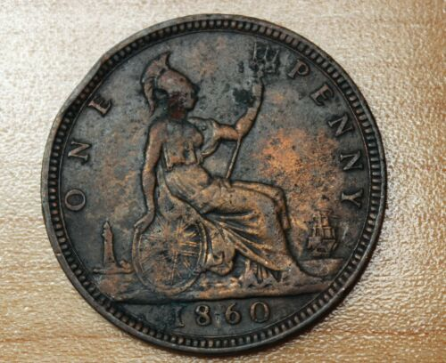 1860 Great Britain 1 Penny