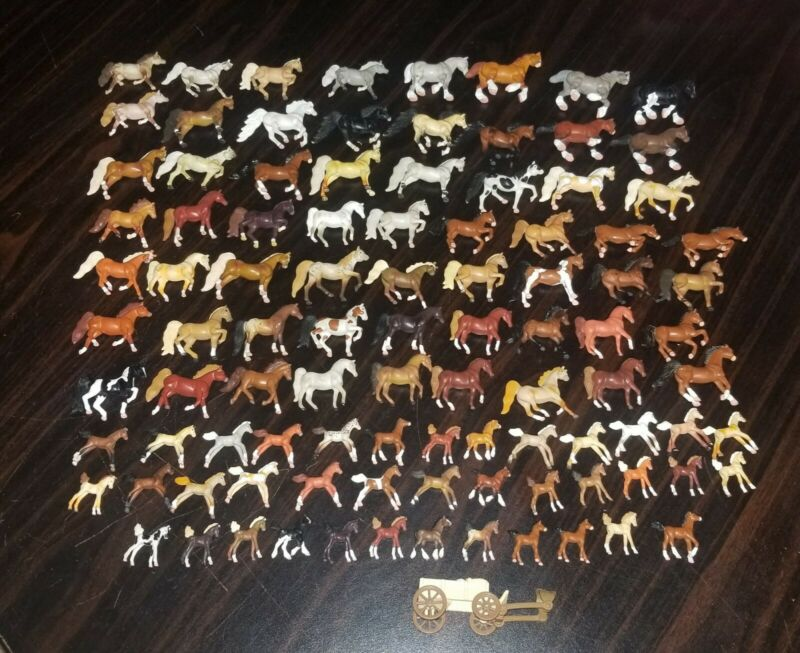 LOT OF 98 MINIATURE HORSES - 1990