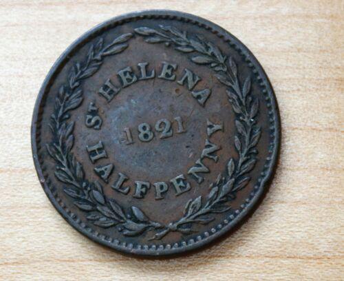1821 Saint Helena & Ascension 1/2 Penny