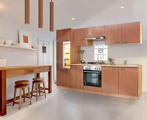 respekta Cucina Angolo Componibile Blocco 270 cm Faggio Acciaio inox