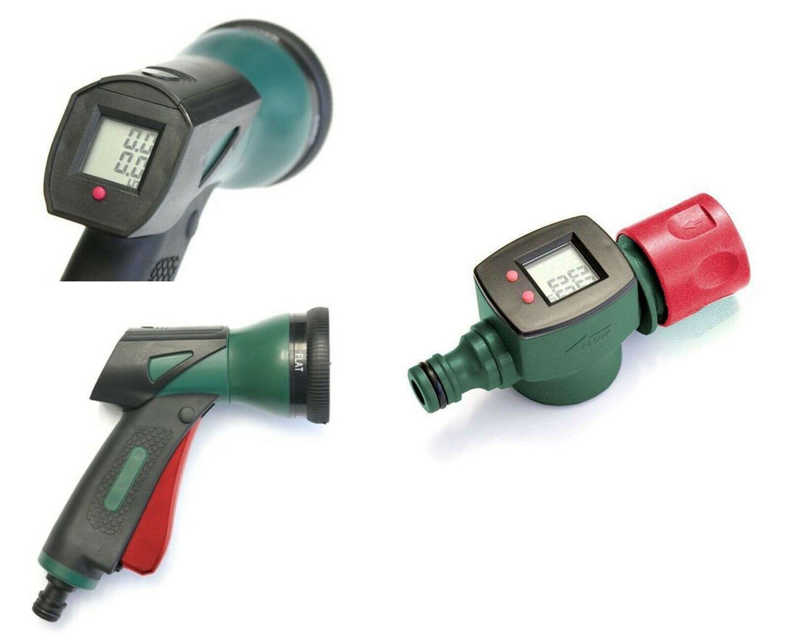 2er Set Wassermengenzähler mit Multifunktions Brause für den Garten