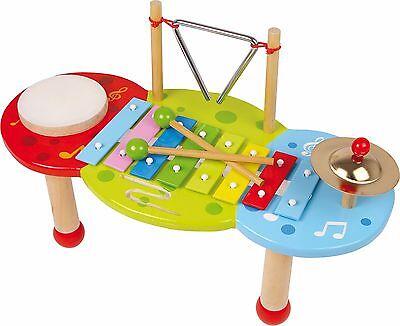 Xylophon Deluxe aus Holz Instrument Musik Musikinstrument Musiktisch für Kinder
