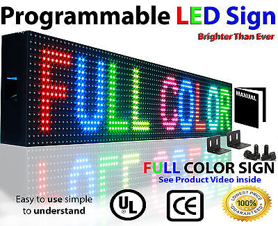 Led Full Color Sign P10 6x 50 Programmable Scrolling Indoor Text Open Message