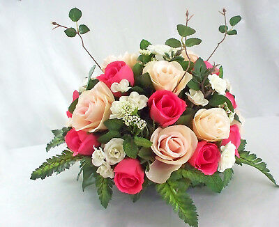 Wedding Reception Table Centerpieces (Reception Centerpiece Table Weddings Home Decor Silk Flower Arrangements Roses)