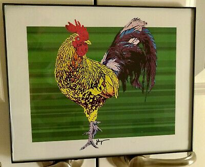 Fire Rooster by Jon Savage - District of C Limited Edition Framed Art -