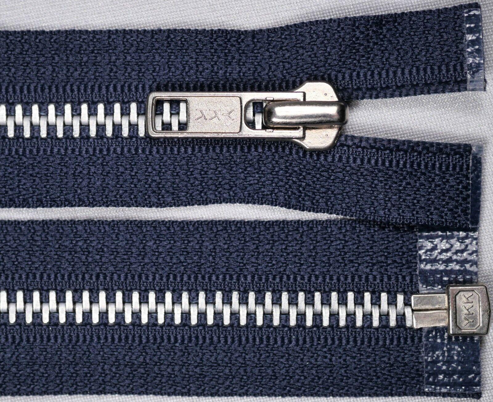 large blue open end  zip  74cm