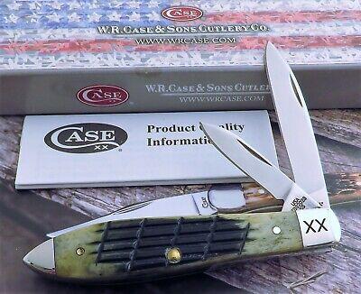 Case Teardrop Jack Knife 2019 Olive Green Fence Row Jig Tony Bose Design Mint NR