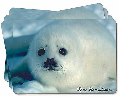 White Sea Lion 'Love You Mum' Picture Placemats in Gift Box, AF-S13lymP