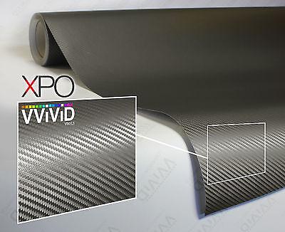 VViViD XPO Gray Carbon Fiber vinyl car wrap 1ft x 5ft decal sticker 3mil sheet