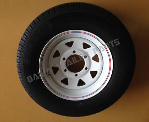 SUNRAYSIA-WHITE-14-6-Stud-Landcruiser-WITH-185-LT-TYRE-Trailer-Parts