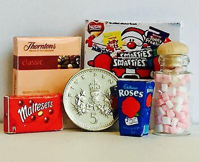 Hecho A Mano 1:12 Th Navidad! Casa de muñecas en miniatura de Chocolates Y Dulces Para Navidad
