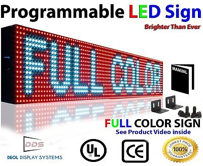 Bright Led Sign Full Color 6x 76 Lan Pc Programmable Outdoor Indoor Business
