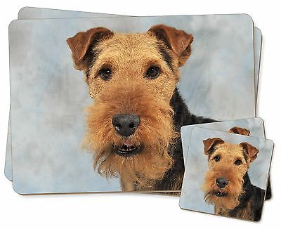 Welsh Terrier Dog Twin 2x Placemats+2x Coasters Set in Gift Box, AD-WT1PC