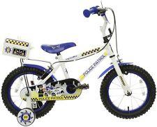 "Apollo Police Patrol Kids Bike 14"" Wheel Stabilisers Mudguards Childrens Bicycle"