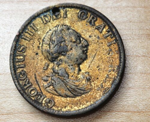 1799 Great Britain Half Penny Holed
