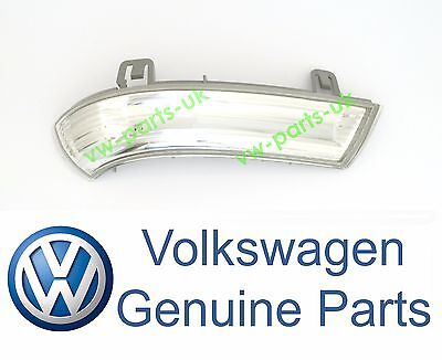 GENUINE VW Wing Mirror Indicator Turn Signal Lens Drivers Side Right LED Bulb OS