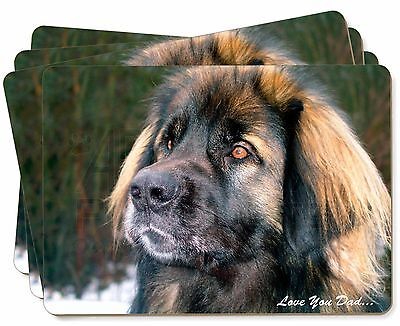 Leonberger Dog 'Love You Dad' Picture Placemats in Gift Box, DAD-68P