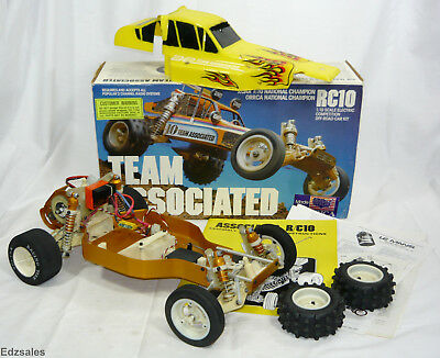 Vintage RC10 Team Associated #6000 Gold Pan Radio Controlled Car