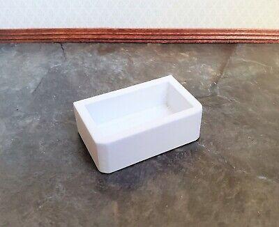 Dollhouse Miniature Sink Belfast Butler Farmhouse Style White 1:12 Scale -