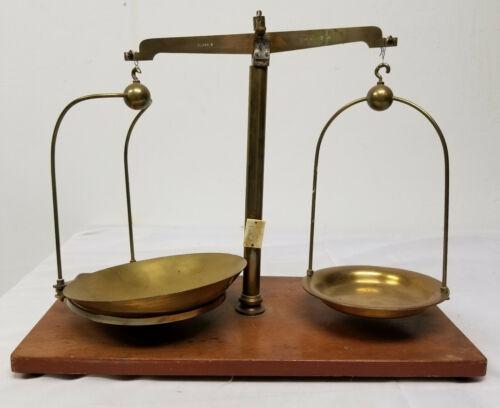Antique Brass Bronze Weight Scale Balance W A Webb LTD Ilford 2 Lb