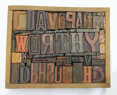 Letterpress Wood Types Collage Worthy 57 Vintage Random Wooden Types Tc3